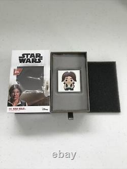 Chibi Collection Star Wars Series Han Solo 1oz. 999 Fine Silver Niue Coin #1979
