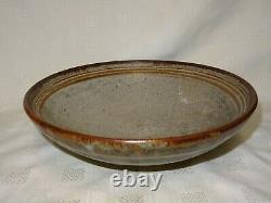 Collectable LEN CASTLE New Zealand Studio Pottery large 10.5 Bowl / Dish