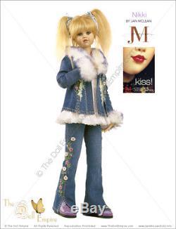 Collectible Doll Nikki By New Zealand Artist Jan Mclean Mib