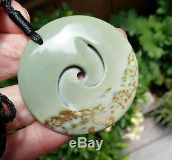 Collectible Kurtis Bell Nz Greenstone Kokopu Pounamu Nephrite Jade Maori Koru