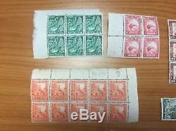 Collection of 1935 KGV New Zealand Definitive Series Blocks & Single Stamp MUH