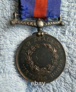 #D135. TWO(2) 1800s MEDALS NEW ZEALAND MEDAL + LONG SERVICE & GOOD CONDUCT
