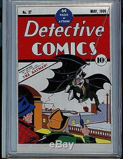 DC Detective Comics #27 CGC 9.8 Mint Silver Foil Batman 1st Release Amricons