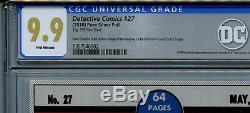 DC Detective Comics #27 CGC 9.9 Mint Silver Foil Batman 1st Release Amricons