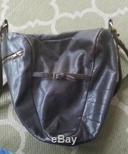 DEADLY PONIES Deer Antigua Leather Bag Purse SERPENT FLOWER COLLECTION RARE