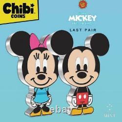 DISNEY CHIBI Mickey & Minnie Mouse 2021 Niue 2x 1oz silver coins