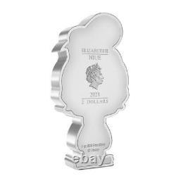 DONALD DUCK CHIBI COIN COLLECTION DISNEY SERIES 2021 1 oz Silver Proof Coin NIUE