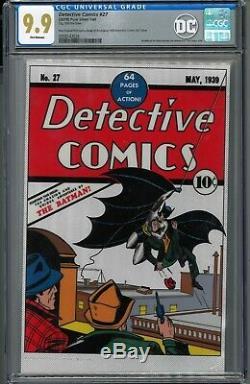 Detective Comics #27 CGC 9.9 Mint Silver Foil Batman First 1st Release NZ Mint