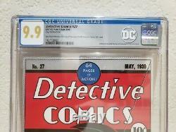 Detective Comics #27 CGC 9.9 Mint Silver Foil New Zealand Mint. 999 Fine Silver