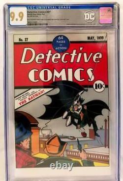 Detective Comics #27 CGC 9.9 Pure Foil Silver Replica New Zealand Mint Edition