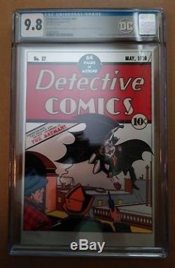 Detective Comics #27 New Zealand Mint 35g Pure Silver Foil CGC 9.8