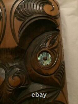 EXCELLENT CONDITION Vintage Maori Face Mask Carving (New Zealand) 9H x 5.5W
