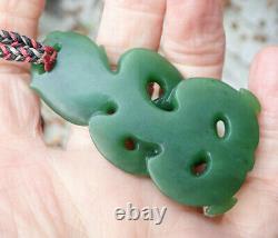 Exquisite Collectible Nz Maori Pounamu Greenstone Jade Hei Tiki By Niki Nepia