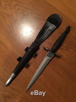 Fairbairn Sykes 1st Pattern Commando Stiletto Dagger & Sheath Very Rare #d VTG