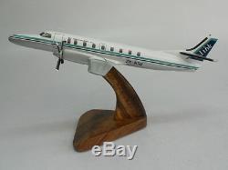 Fairchild Metroliner III Air New Zealand Air Nelson Airplane Wood Model FS