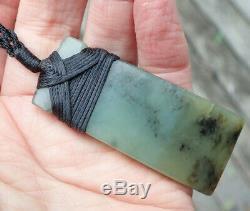G Thomson Rare Nz Greenstone Pounamu Nephrite Totoweka Jade Maori Hei Toki Adze