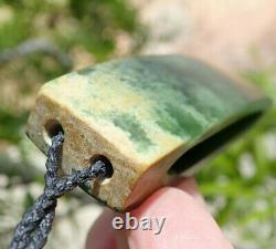 Gem Grade Dallas Crombie Nz Pounamu Greenstone Flower Jade Maori Split Hei Toki