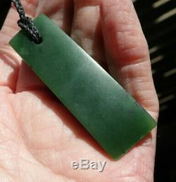 Gem Grade Dallas Crombie Nz Pounamu Greenstone Jade Maori Hei Toki Adze Necklace