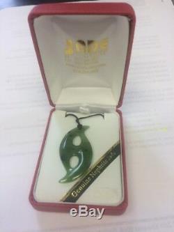 Genuine Nephrite Jade Pendant New Zealand Maori Necklace
