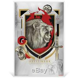 HARRY POTTER HOUSE BANNERS 2020 Niue 5g silver foil SET OF 4