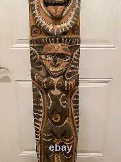 HUGE Vintage Sepik River Abstract Sculpture Folk Art Papua New Guinea Carving