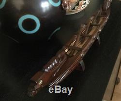 Hand Carved NZ Rimu Wood Waka Maori Warrior canoe