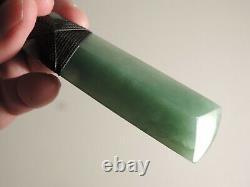 INANGA Greenstone Pounamu Jade Nephrite POLISHED Green Blue Superb PYRAMID TOKI