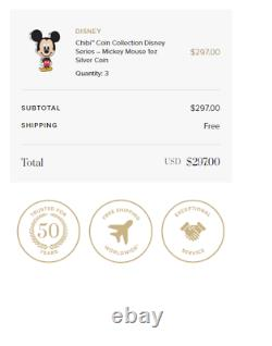 IN-HAND Chibi Coin Collection Disney Series Mickey Mouse 1oz Silver Coin