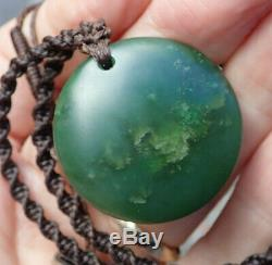 Inlaid Nz Pounamu Greenstone Nephrite Az Turquoise 18k Gold Maori Matariki Disk