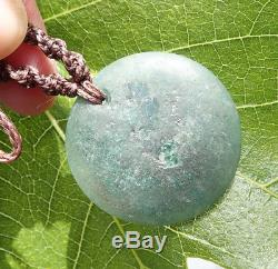Inlaid Nz Turquoise Aotea Stone (fuschite) Silver 18k Gold Maori Matariki Disk