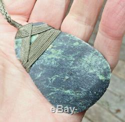 J Kapa Nz Maori Greenstone Pounamu Rare Tangiwai (bowenite) Hei Toki Adze