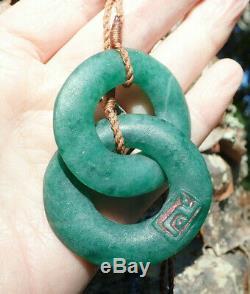 J Van Riel Ocean Blue One Of Kind Nz Fuschite Kyolite Maori Aotea Stone Loops
