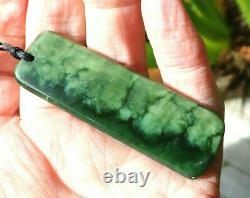 Kurtis Bell Nz Greenstone Arahura Pounamu Nephrite Flower Jade Maori Hei Toki