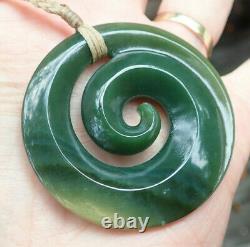 Kurtis Bell Rarest Nz Greenstone Pounamu Nephrite Picture Jade Maori Spiral Koru