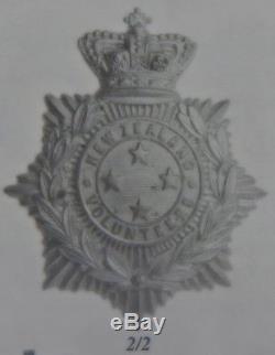 LARGE New Zealand Volunteers HELMET PLATE'Four Star' 1895 Queen Victoria Crown