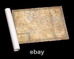 LOTR The Hobbit Map of the Shire WETA An Unexpected Journey Authentic Weta Map