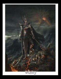 LOTR Weta Sauron Fine Art Paper Giclee Jerry VanderStelt LE 605/800 17x20 COA