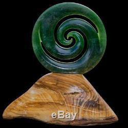 Large Jade Koru Sculpture BY Bill Goodwin, Authentic New Zealand art, FANTASTIC