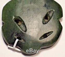 Late 19th C. Maori New Zealand Jade Pounamu Hei Tiki Greenstone Amulet