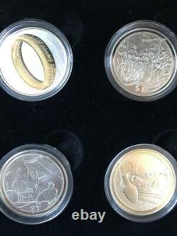 Lord Of The Rings Silver Proof Coins. New Zealand Scenes in Silver 1/2 Set BNIB