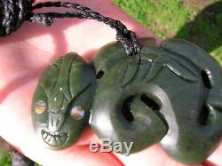 MAORI Greenstone TIKI large 3 inches or 75mm hand carved