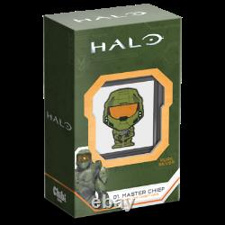 MASTER CHIEF CHIBI COIN COLLECTION HALO SERIES 2021 1 oz Silver Proof Coin NIUE