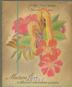 MATSON LINE to HawaiiNew ZealandSamoa/FijiAustralia 1930s or 40s Promo Pub