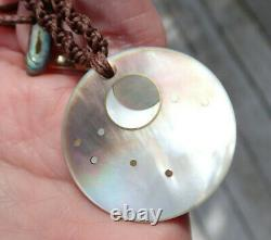 Maori New Year Pearl Nz Paua Shell Nz Greenstone Jade 18k Gold Reversible Disk