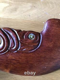 Maori Wahaika Wooden Ceremonial Weapon Hand Carvings N Zealand