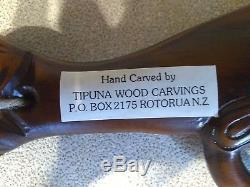 Maori War Club Paddle Tiki Tipuna Wood Carving New Zealand