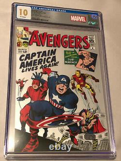 Marvel Avengers #4 (2019) 1oz Pure Silver Foil Scottsdale Mint Replica CGC 10