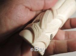 Master Carver GARETH BARLOW Engraved/Made Deer Antler Maori PENDANT Bigger Size