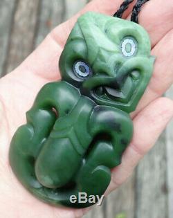 Masterpiece Niki Nepia Nz Pounamu Greenstone Nephrite Jade Maori Hei Tiki