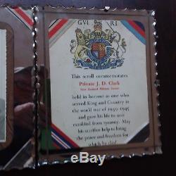 Memorial Scroll & Photo New Zealand El Alemein Unusual Presentation